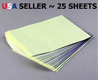 25 Sheets Tattoo Carbon Stencil Transfer Paper - Brand Usa Seller