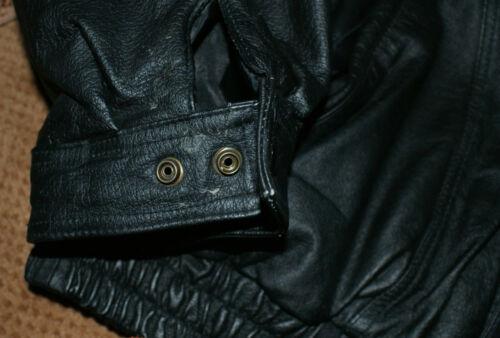 Black Leather Bomber Jacket Solid Panels racing logo Nascar NHRA SCCA