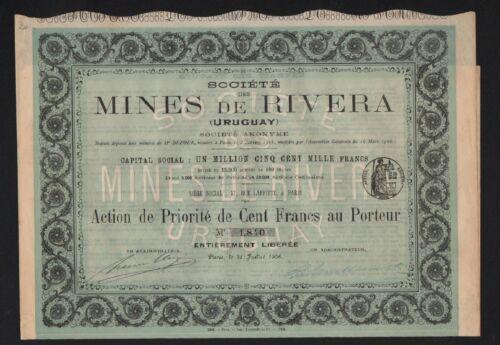 Mines de RIVIERA (URUGUAY) (E)