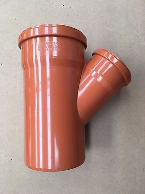 Underground Drainage 160mm Double Socket 45° Junction Branch