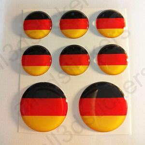 Pegatinas-Alemania-Pegatina-Bandera-Alemania-Redondas-3D-Vinilo-Adhesivo-Relieve