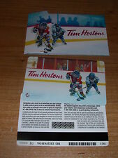 Tim Hortons 2015 Girls Hockey Players Carte Gift Card & Sleeve FD49248