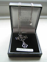 Charles Rennie Mackintosh Lovely Sterling Silver Celtic Cross Amethyst Pendant