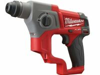 Milwaukee M12ch-0 Fuel Brushless 12v Sds+ Hammer Drill Bare Unit