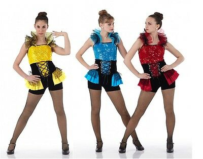 Jazz Tap Dance Costume Can Can Jester TROUBLEMAKER Child & Adult Sizes