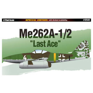 ACADEMY-12542-1-72-Plastic-Model-Kit-Me262a-1-2-Last-Ace