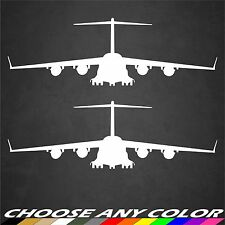 2 USAF C-17 Aircraft Stickers Front View Military Graphics Decal Sticker Car