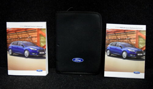 GENUINE FORD FOCUS 2014-2018 HANDBOOK OWNERS MANUAL WALLET NAVI SYNC BOOK PACK