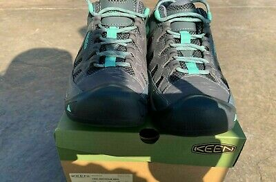 KEEN Outdoor 1023033 Women/'s Targhee Vent Steel Gray//Ocean Wave Trail Shoes