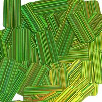 Lime Green City Lights Sequin Rectangle Reflective 1.5 Inch Couture Paillettes