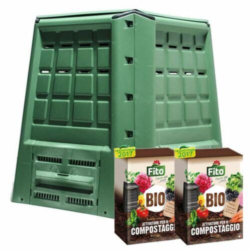 Compostiera Giardino Ecobox Fast Da 380 Litri E 4 Kg di Attivatore Compostaggio