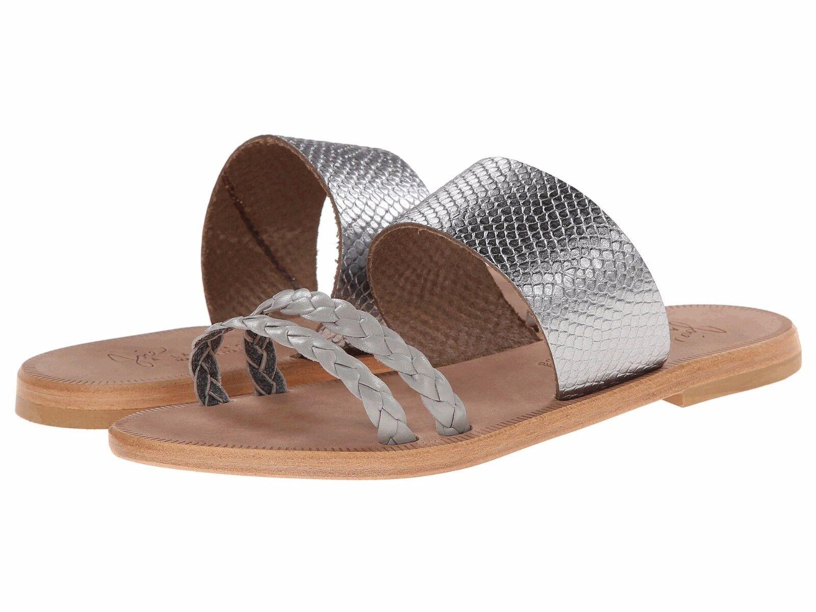 NWOT Joie A La Plage Diani Pelle Sandals Pewter Sz 38.5