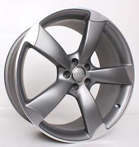 1x-Original-Audi-S5-A5-B8-8T-19-Zoll-Rotor-Alufelgen-S-Line-Grau-8T0601025CD