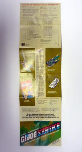 GI Joe Real American Hero Strike Catalogue vintage BROCHURE LIVRET COMPLET 1986