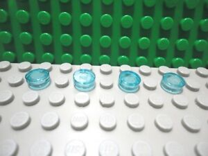 Lego 4 Trans Light Blue 1x1 brick block NEW
