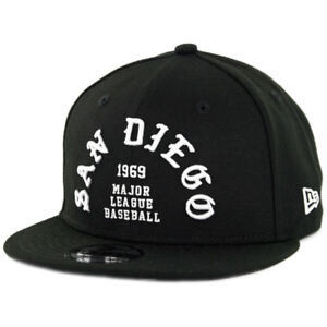 New-Era-950-San-Diego-Padres-034-Team-Deluxe-II-034-Snapback-Hat-Black-Men-039-s-MLB-Cap