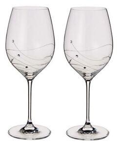 Image Is Loading Dartington Crystal Swarovski Glitz Set Of 2 Wine