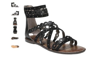 6837255c3 Sam Edelman Geren Black Suede Leather Gladiator Sandal Women s sizes ...