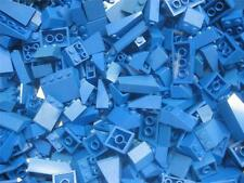 50 LEGO PIECES BLUE Roof Inclines Slopes Bricks bulk lot wedge houses city town