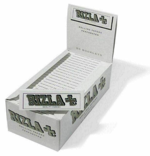 Rizla Cartine White Corte Bianche Cartine Regular Scatola da 25 Libretti