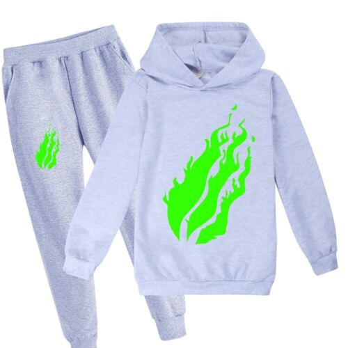 Pants Age 2-16 Green Prestonplayz Youtuber Childrens Trouser Suit Hoodies Tops