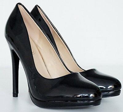 damen schuhe pumps abendschuhe high heels extra hoch mini plateau rot lack