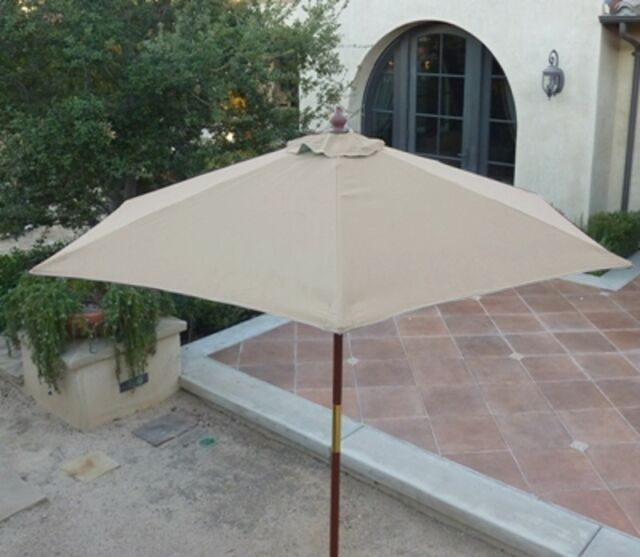 39b28ce5f1 Formosa Covers 7ft Wood Market Umbrella Tilt Mechanism - Taupe