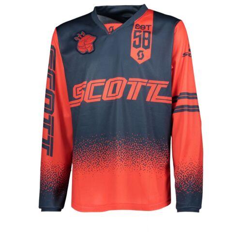 Scott 350 Race Kids Kinder MX Motocross Jersey DH Fahrrad Trikot rot//blau 2019