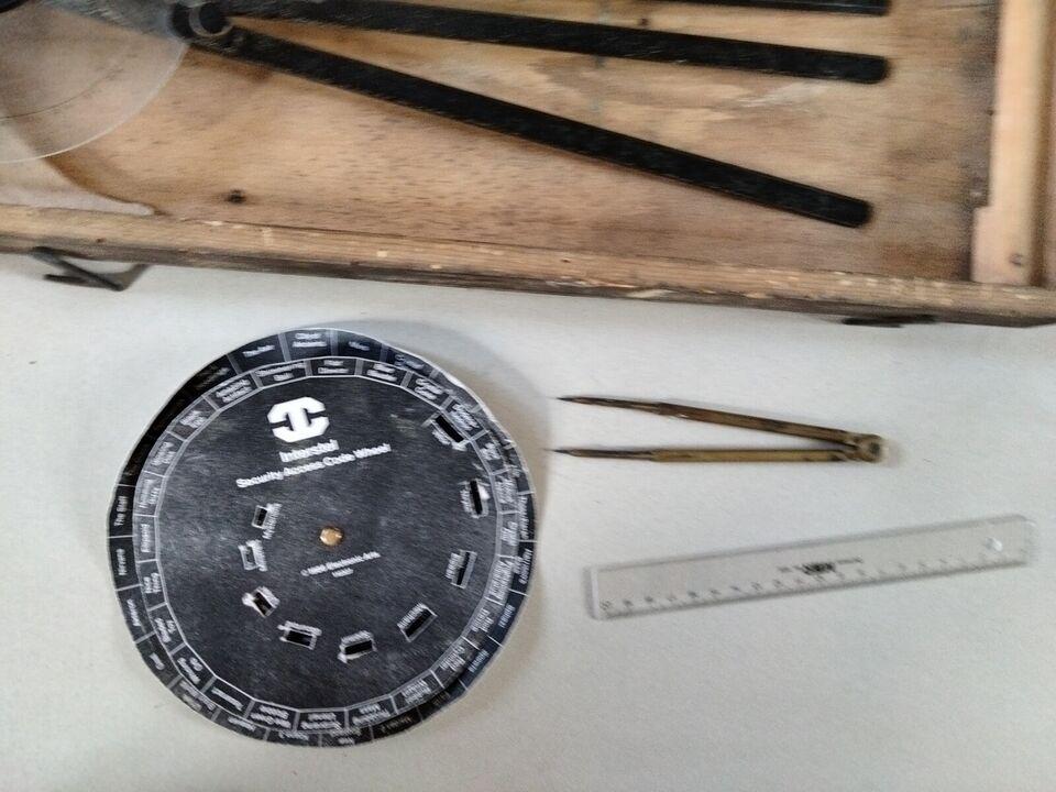 Meget gammelt i træ kasse, pris forslag