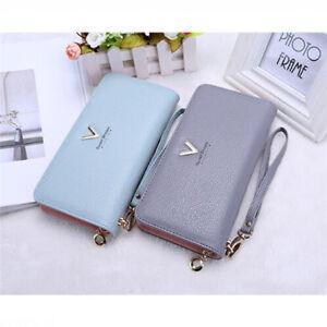 Small-Multi-Function-Women-Faux-Leather-Zip-Clutch-Long-Wallet-Wristlet-Bag-WE
