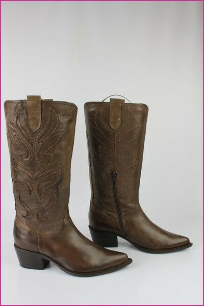 Bottes TEXTO Bouts Pointus Cuir Marron Marron Cuir T 37 TBE 34af4c