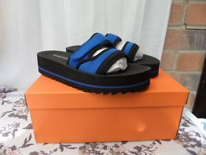 ROCKET-DOG-Manto-Neo-UK-5-38-Blue-amp-Black-slider-sandals-BNIB-RRP-35