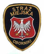 PATCH POLAND POLICE (STRAZ MIEJSKA) - OBORNIKI - ORIGINAL!