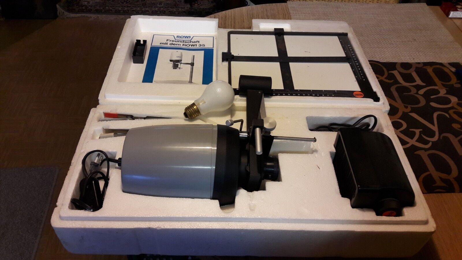 Rowi 35-ampliación dispositivo con accesorios-enlarger-con manual de instrucciones