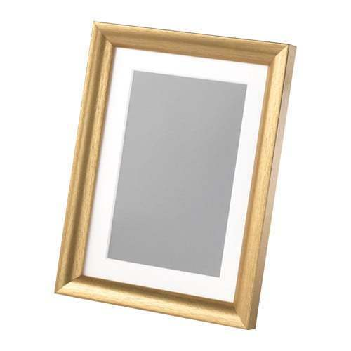 color oro 13x18 cm IKEA  SILVERHÖJDEN Cornice