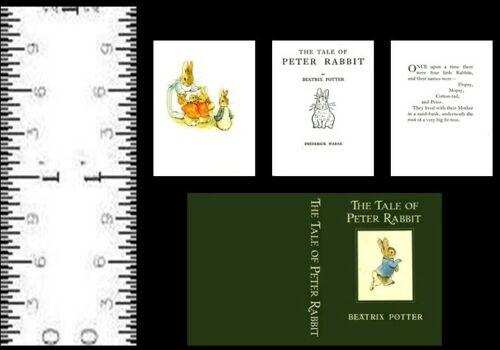 1:12  SCALE MINIATURE BOOK BEATRIX POTTER THE TALE OF PETER RABBIT DOLLHOUSE