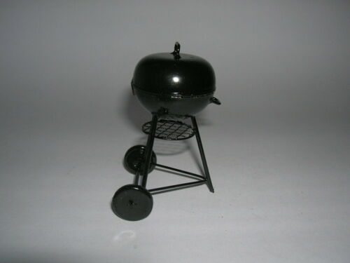 round Barbecue Grill Black Black 1:12 Art 30848 Creal Kettle Grill