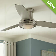 Modern Harbor Breeze 3 Blade Ceiling Fan Brushed Nickel Flush