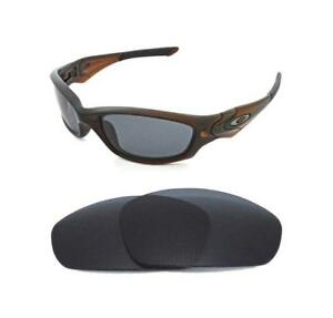 bf1c2708934 Image is loading NEW-POLARIZED-BLACK-REPLACEMENT-LENS-FOR-OAKLEY-STRAIGHT-