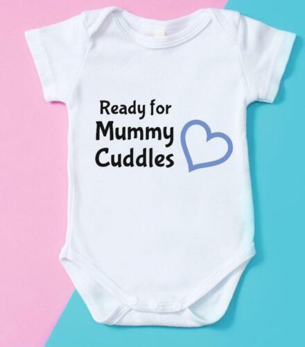 Blue Ready For Mummy Cuddles Babygrow Bodysuit Birthday Gift Baby Shower Gift