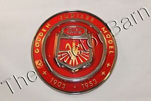 New Ford NAA Golden Jubilee Tractor Front Hood Nose Emblem Medallion NAA16600A