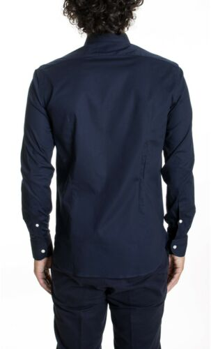 Brancaccio Tinta Unita blu Camicia B029210 ai15 gwxEO7Yxq