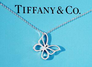 Tiffany-amp-Co-Plata-Encanto-Collar-de-mariposa-pequena