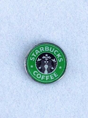 STARBUCKS COFFEE Floating Charm GLASS Living MEMORY Locket Charms