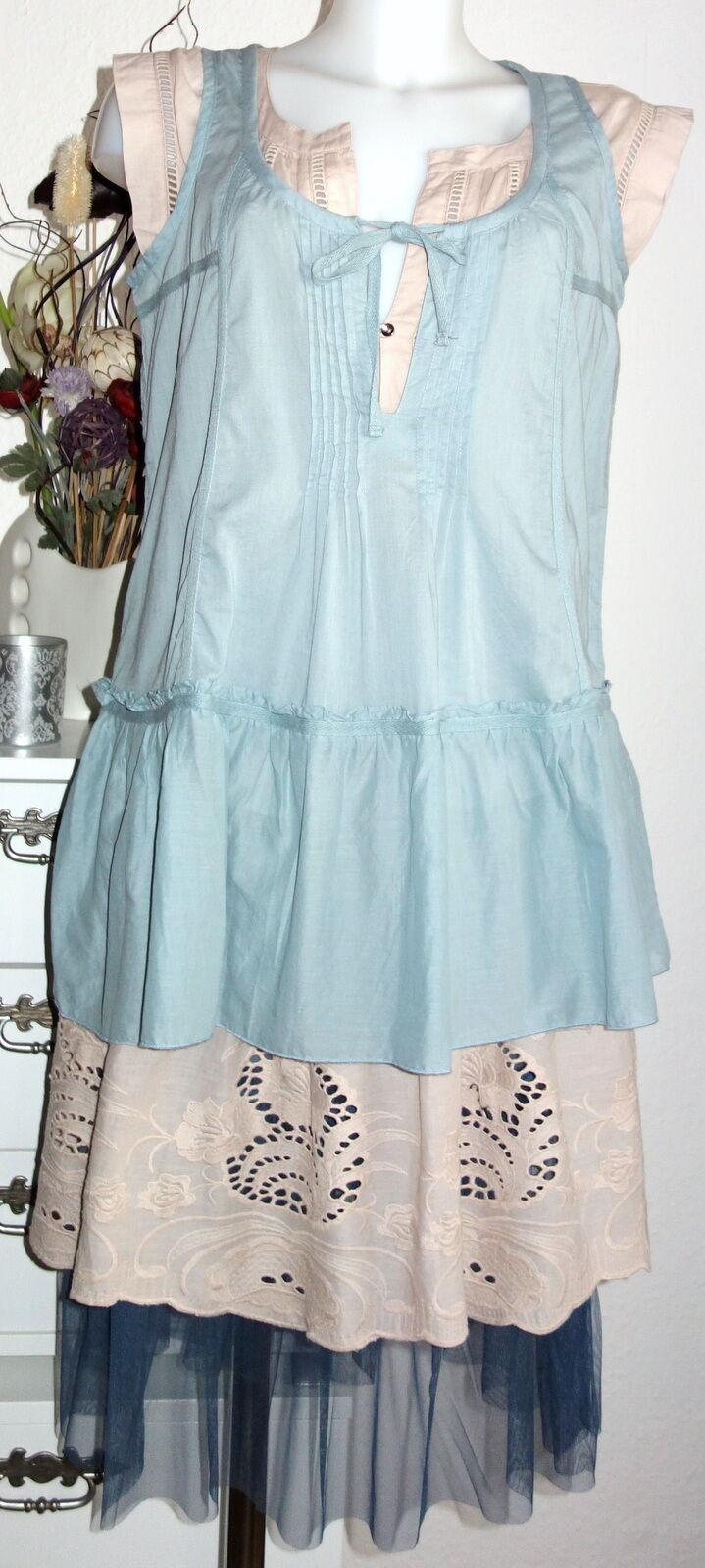 NOA NOA TUNIC Less VOILE SOLID Arona S 36 blue bluee Cotton Dress