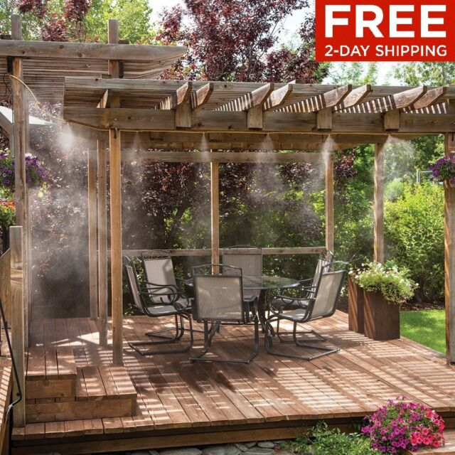 Delicieux Outdoor Mist Cooling System 20ft Patio Mister Kit Pool Deck Misting Air  Cooler