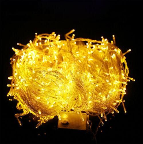 LED Fairy Lights UK Plug 200//300//500//1000 LED Wire String Christmas Party Decor