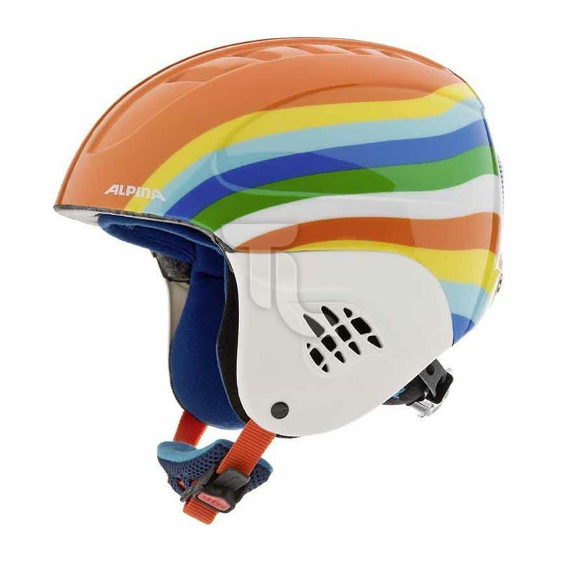 Alpina Skihelm Kinder NEU rainbow Regenbogen