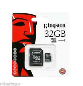 KINGSTON-MICRO-SD-32-GB-MICROSD-CLASSE-10-SDHC-SCHEDA-DI-MEMORIA-CARD-SMARTPHONE