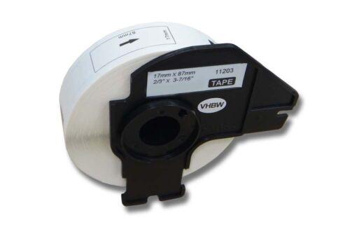 QL-650TD 300 DRUCKER ETIKETTEN 17x87mm WASSERFEST für BROTHER P-touch QL-650